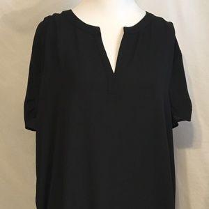 Pleione Womens Nordstrom Large Short Sleeve Blouse
